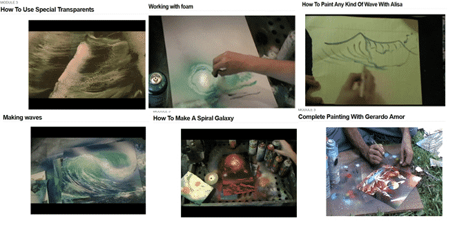 Painting With Spray Paint Artists