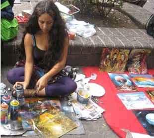 Peinture à la peinture art paloma coronado