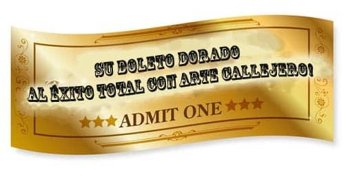spray paint art spanish golden ticket