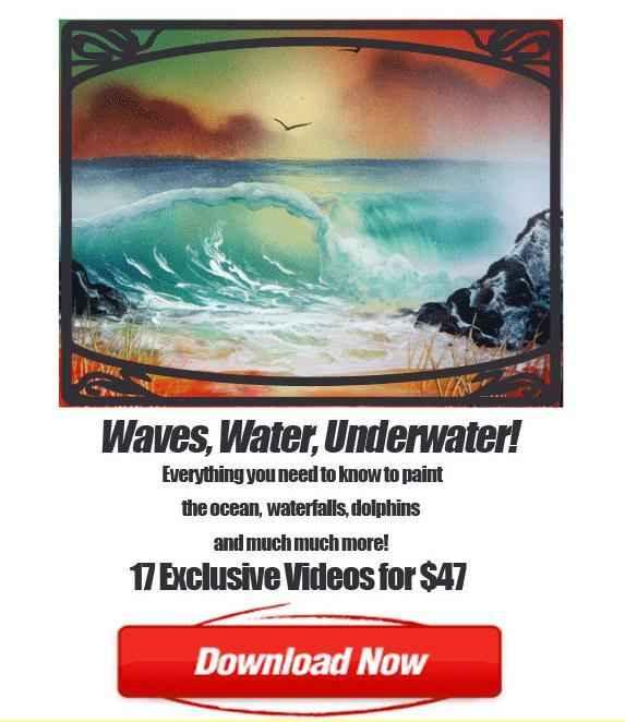 Spray Paint Art Waves Waterfalls and Underwater