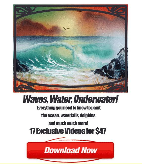 spray paint art waves water underwater painting