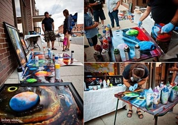 trent live painting